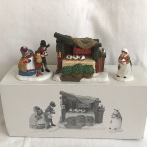 "Dept. 56-""Christmas Pudding Costermonger""-set of 3"